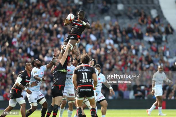 Yacouba Camara of Toulouse and of Racing 92 during the Top 14 match between Stade Toulousain and Racing 92 on April 16 2017 in Toulouse France