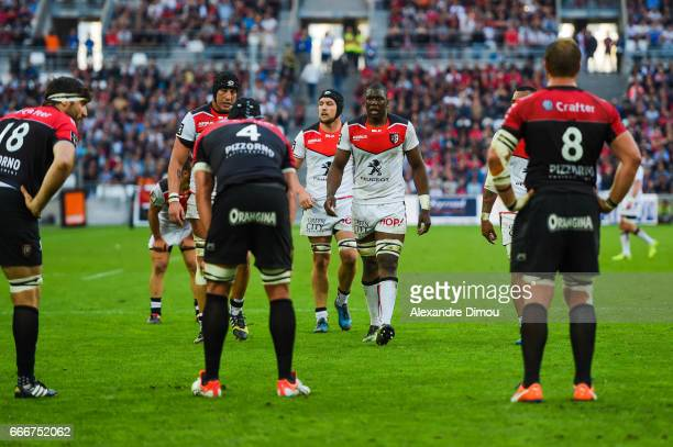 Yacouba Camara of Toulouse during the Top 14 match between RC Toulon and Stade Toulousain Toulouse on April 9 2017 in Marseille France