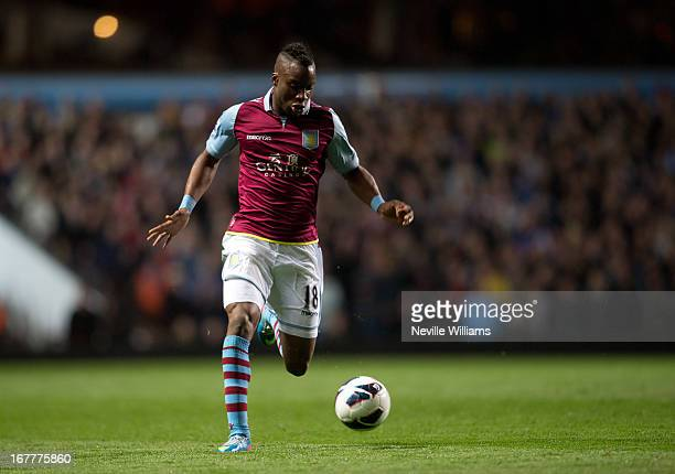 Yacouba Sylla of Aston Villa during the Barclays Premier League match between Aston Villa and Sunderland at Villa Park on April 29 2013 in Birmingham...