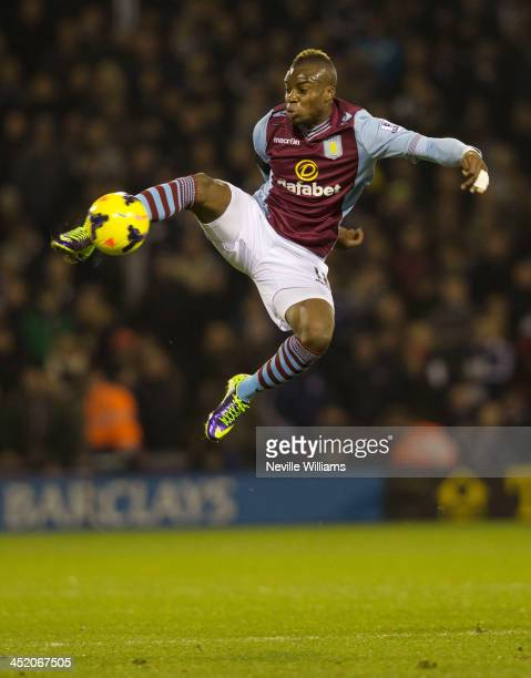 Yacouba Sylla of Aston Villa during the Barclays Premier League match between West Bromwich Albion and Aston Villa at The Hawthorns on November 25...