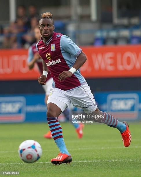 Yacouba Sylla of Aston Villa during the Pre Season Friendly match between Luton Town and Aston Villa at Kenilworth Road on July 23 2013 in Luton...