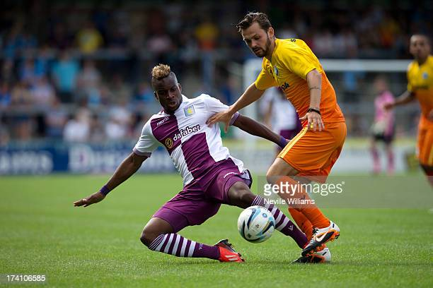 Yacouba Sylla of Aston Villa in action during the Pre Season Friendly match between Wycombe Wanderers and Aston Villa at Adams Park on July 20 2013...