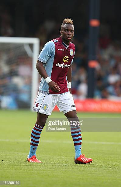 Yacouba Sylla of Aston Villa in action during the Pre Season Friendly match between Luton Town and Aston Villa at Kenilworth Road on July 23 2013 in...