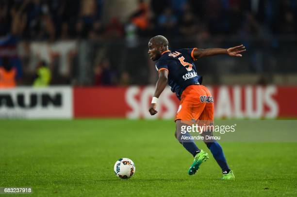 Yacouba Sylla of Montpellier during the Ligue 1 match between Montpellier and Olympique Lyonnais Lyon at Stade de la Mosson on May 14 2017 in...