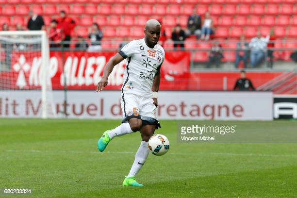 Yacouba Sylla of Montpellier during the Ligue 1 match between Stade Rennais and Montpellier Herault at Roazhon Park on May 7 2017 in Rennes France
