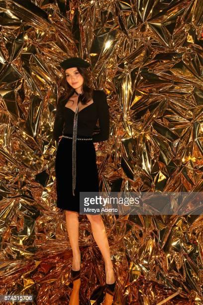 Yada Villaret attends the 50th anniversary celebration of Wilhelmina with cohost Patti Hansen on November 14 2017 in New York City