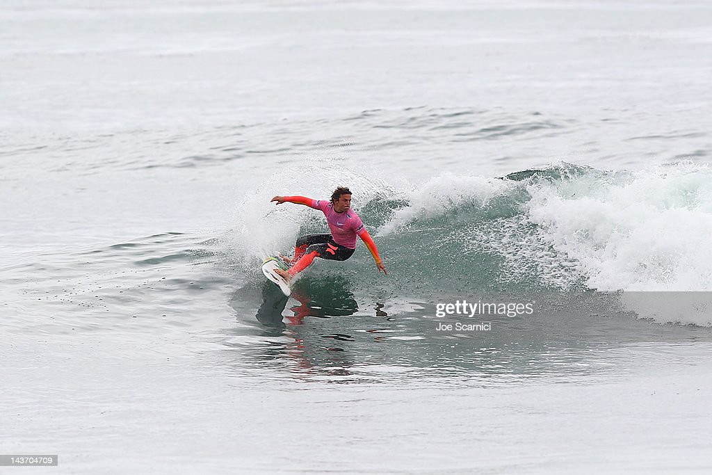 Yadin Nicol of Australia in action surfing Round 3 Heat 18 during the Nike Lowers Pro at Lower Trestles on May 2 2012 in San Clemente California