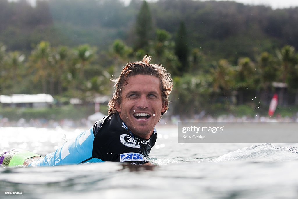 Yadin Nicol of Australia was happy to be competing in perfect Pipeline conditions during the Billabong Pipe Masters on December 9, 2012 in North Shore, Hawaii.