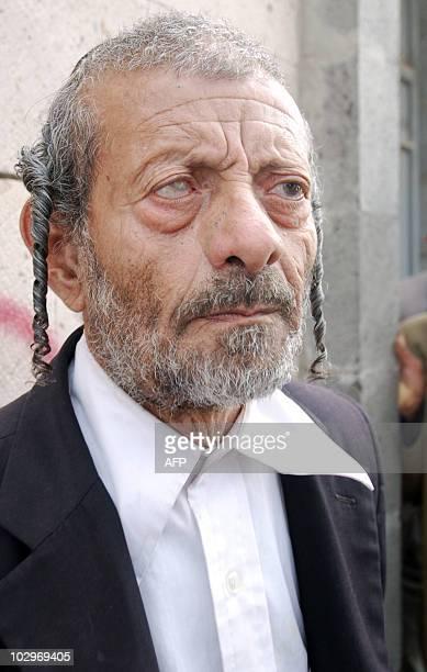 Yaeish alNahari father of murdered Yemeni Jew Masha Yaeish alNahari joins a protest outside the ministry of justice in Sanaa on June 28 2010 to...