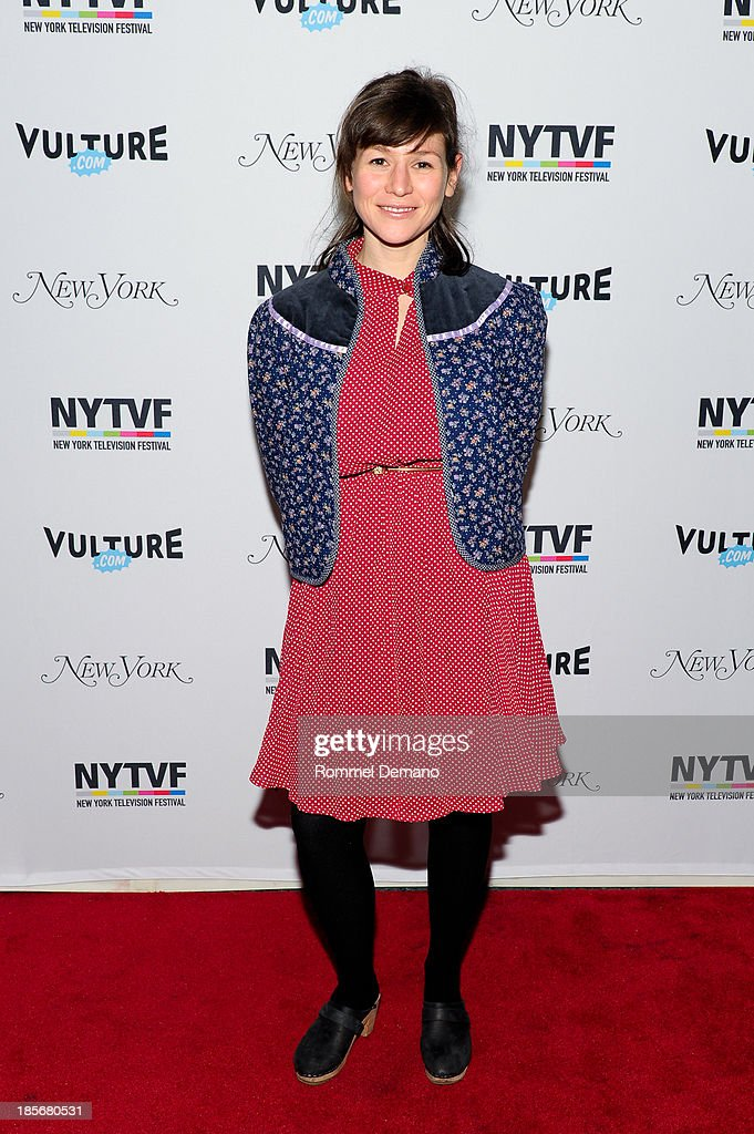 Yael Stone attends attends the 9th Annual New York Television Festival - Long Day's Journey Into Late Night: The Politics Of Funny at SVA Theater on October 23, 2013 in New York City.