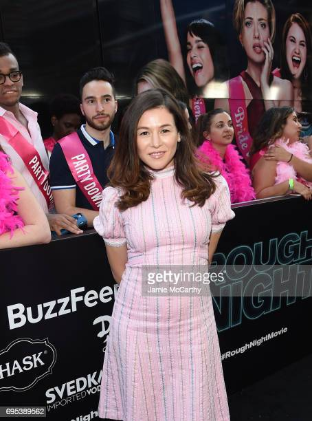 Yael Stone attends New York Premiere of Sony's ROUGH NIGHT presented by SVEDKA Vodka at AMC Lincoln Square Theater on June 12 2017 in New York City