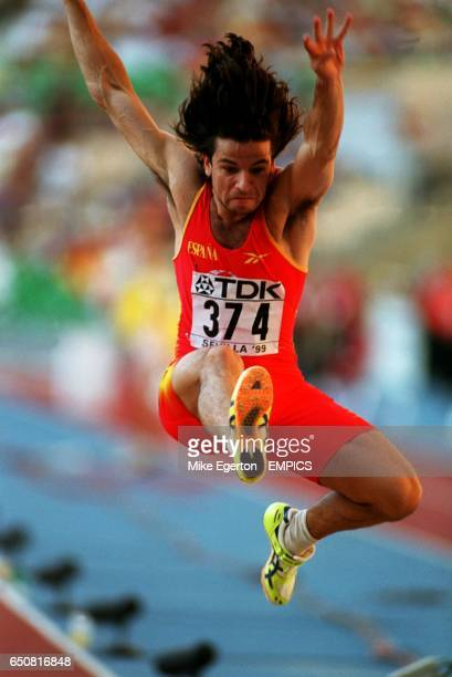 Yago Lamela of Spain competing in the men's long jump