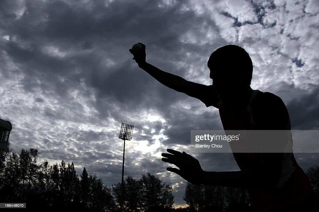 Yagyama Kumal of Nepal bowls during the ACC U-19 Elite Cup Semi Final against UAE at the Bayuemas Cricket Ground on May 10, 2013 in Kuala Lumpur, Malaysia.