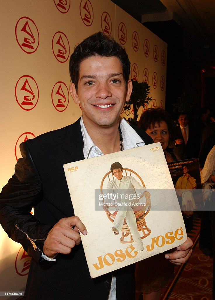 Yahir with Jose Jose album cover during 2005 Latin Recording Academy Person of the Year Red Carpet at Regent Beverly Wilshire in Beverly Hills...