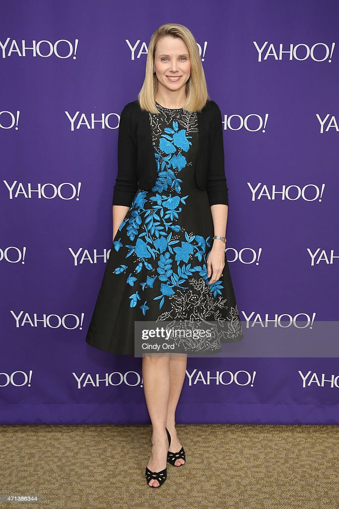 Yahoo CEO <a gi-track='captionPersonalityLinkClicked' href=/galleries/search?phrase=Marissa+Mayer&family=editorial&specificpeople=5577875 ng-click='$event.stopPropagation()'>Marissa Mayer</a> attends the 2015 Yahoo Digital Content NewFronts at Avery Fisher Hall on April 27, 2015 in New York City.