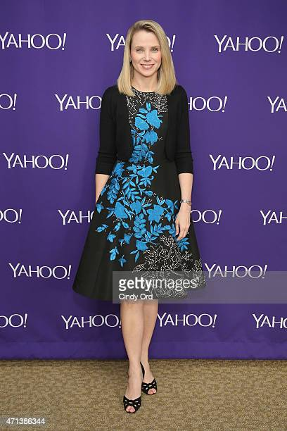 Yahoo CEO Marissa Mayer attends the 2015 Yahoo Digital Content NewFronts at Avery Fisher Hall on April 27 2015 in New York City