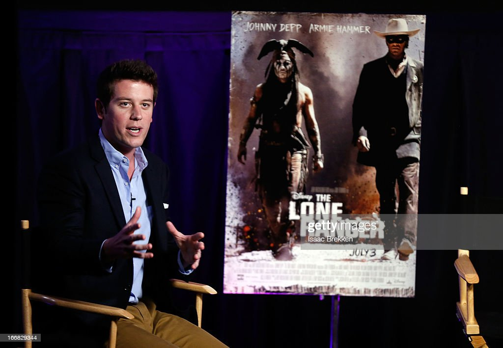 Yahoo! Movies host Ben Lyons moderates 'The Lone Ranger' fan event and global trailer launch at the AMC Town Square 18 theatres on April 17, 2013 in Las Vegas, Nevada.