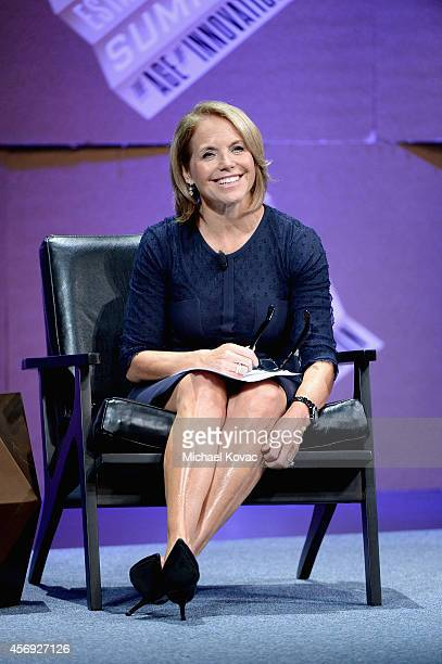 Yahoo News Global Anchor Katie Couric speaks onstage during 'Disrupting Politics' at the Vanity Fair New Establishment Summit at Yerba Buena Center...