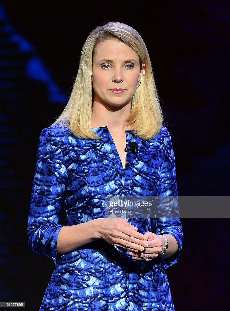 Yahoo! President and CEO <a gi-track='captionPersonalityLinkClicked' href=/galleries/search?phrase=Marissa+Mayer&family=editorial&specificpeople=5577875 ng-click='$event.stopPropagation()'>Marissa Mayer</a> delivers a keynote address at the 2014 International CES at The Las Vegas Hotel & Casino on January 7, 2014 in Las Vegas, Nevada. CES, the world's largest annual consumer technology trade show, runs through January 10 and is expected to feature 3,200 exhibitors showing off their latest products and services to about 150,000 attendees.
