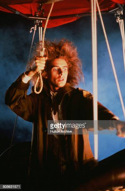 Yahoo Serious in a hot air balloon in a scene from the Warner Bros movie 'Young Einstein' circa 1988