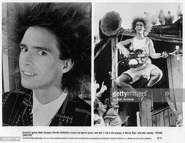 Yahoo Serious in scenes from the Warner Bros movie 'Young Einstein' circa 1988