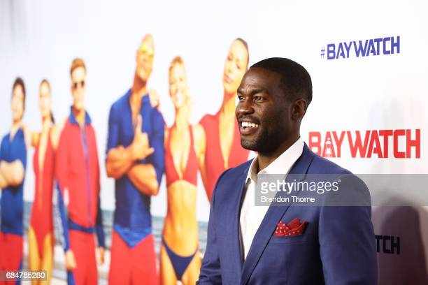 Yahya AbdulMateen attends the Australian premiere of 'Baywatch' at Hoyts EQ on May 18 2017 in Sydney Australia