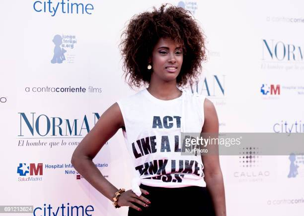 Yaima Ramos attends the 'Norman The Moderate Rise and Tragic Fall of a New York Fixer' premiere at the Callao cinema on May 31 2017 in Madrid Spain