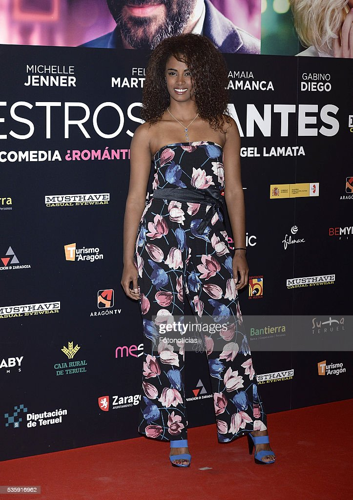 Yaima Ramos attends the 'Nuestros Amantes' premiere at Palafox cinema on May 30, 2016 in Madrid, Spain.