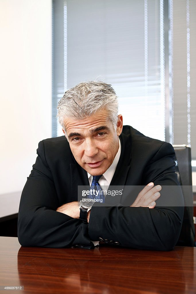 <a gi-track='captionPersonalityLinkClicked' href=/galleries/search?phrase=Yair+Lapid&family=editorial&specificpeople=5366792 ng-click='$event.stopPropagation()'>Yair Lapid</a>, Israel's finance minister, pauses during an interview at his office in Tel Aviv, Israel, on Tuesday, Sept. 9, 2014. Lapid said the shekel remains 'too strong' even after weakening more than 5 percent since late July. Photographer: Ariel Jerozolimski/Bloomberg via Getty Images