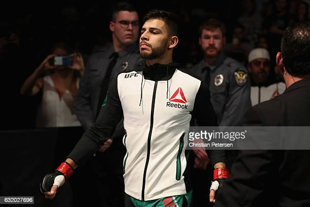 Yair Rodriguez prepares to fight BJ Penn during the UFC Fight Night event at the at Talking Stick Resort Arena on January 15 2017 in Phoenix Arizona