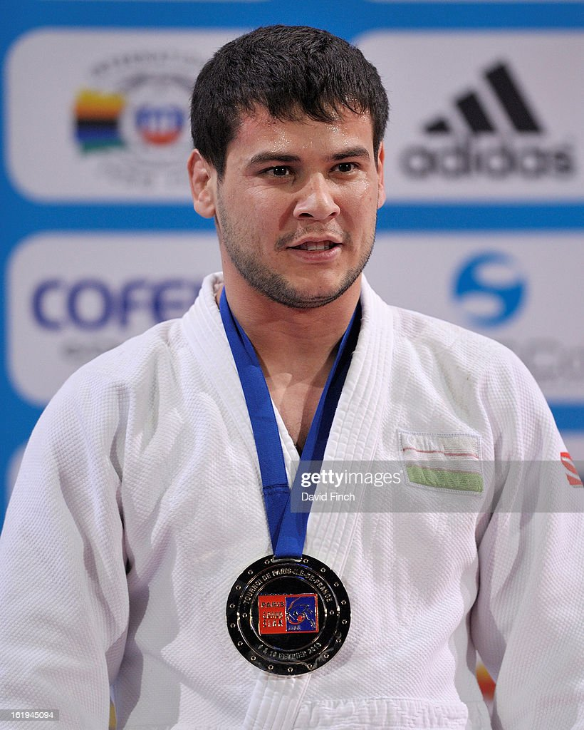 Yakhyo Imamov of Uzbekistan was presented with the u81kgs gold medal during the Paris Grand Slam on day 2, Sunday, February 10, 2013 at the Palais Omnisports de Paris, Bercy, Paris, France.