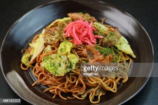 Stock Photo : Yakisoba (Pan-fried noodles)