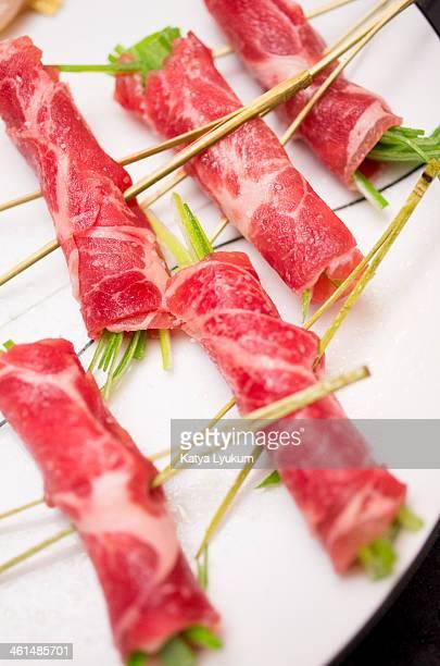 Yakitori: Pork and Green Onions Rolls