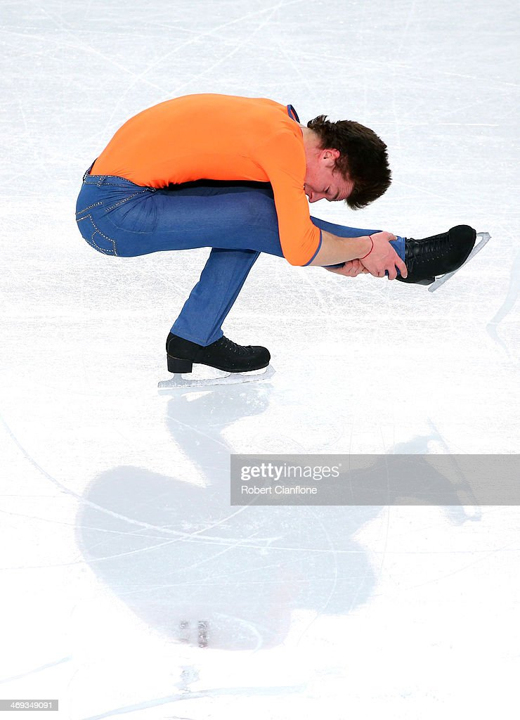 Yakov Godorozha of Ukraine performs during the Figure Skating Men's Free Skating on day seven of the Sochi 2014 Winter Olympics at Iceberg Skating Palace on February 14, 2014 in Sochi, Russia.