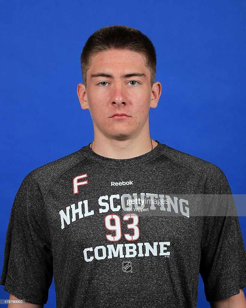 Yakov Trenin poses for a headshot at the NHL Combine at HarborCenter on June 3, 2015 in Buffalo, New York.