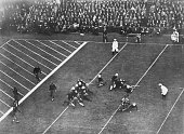 Yale halfback Albie Booth ends his college career with a dropkick that beat Harvard 3 to 0 at Soldiers Field in the 50th annual football game between...