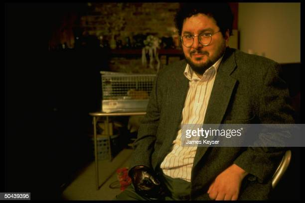 Yale professor David Gelernter who was badly injured by Unabomber explosive in 1993 sitting at home of his parents