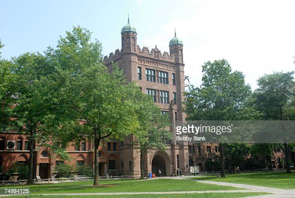 Yale University old campus is shown on the set of the latest 'Indiana Jones' movie at Yale University Campus on June 28 2007 in New Haven Connecticut