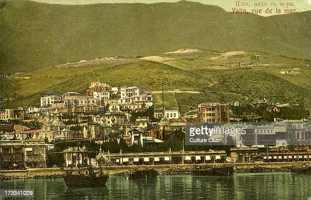 Yalta Crimea view from the Black Sea Modern day Ukraine C 1906