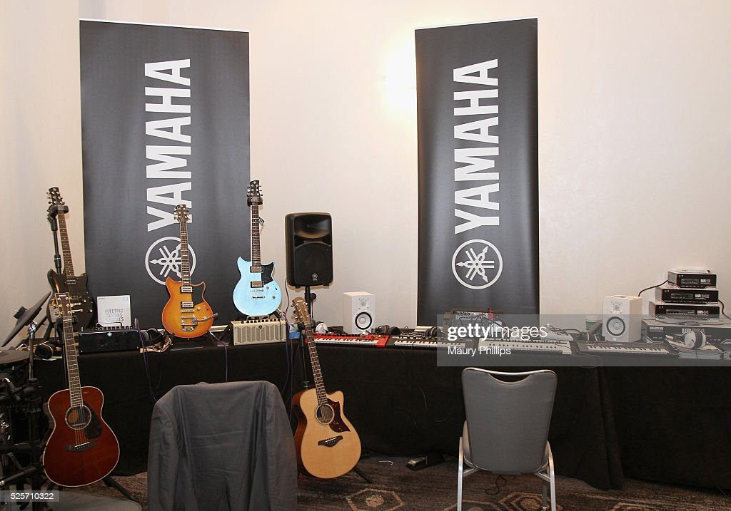 Yamaha booth on display during the 2016 ASCAP 'I Create Music' EXPO on April 28, 2016 in Los Angeles, California.