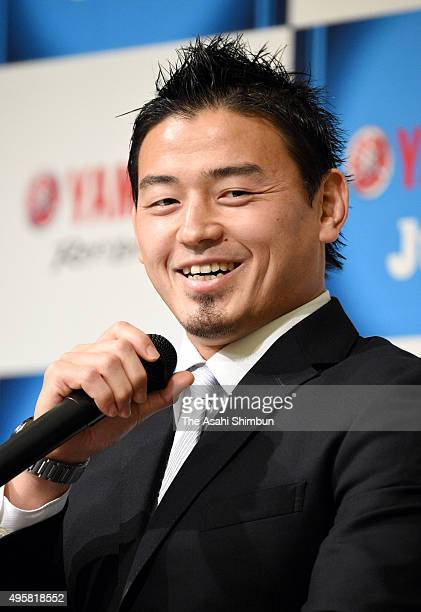 Yamaha Jubilo full back Ayumu Goromaru speaks during a press conference annoucing he is joining the Super Rugby Queensland Reds on November 5 2015 in...