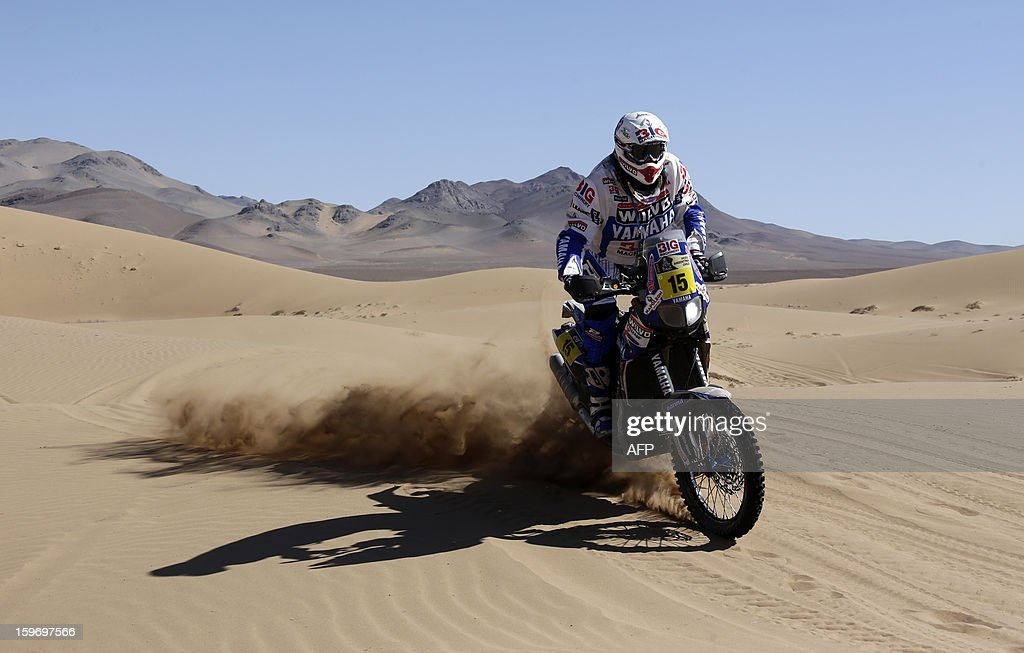 Yamaha's Frans Verhoeven of the Netherland's competes in the Stage 13 of the 2013 Dakar Rally between Copiapo and La Serena, in Chile, on January 18, 2013. The rally is taking place in Peru, Argentina and Chile from January 5 to 20.