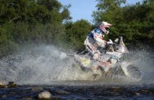 Yamaha's French rider Olivier Pain competes during the Stage 6 of the Dakar 2014 between Tucuman and Salta Argentina on January 9 2014 AFP PHOTO /...