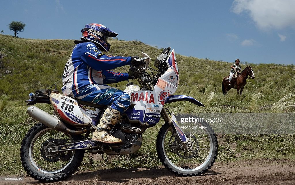 Yamaha's rider John McKendrick of Chile competes during the Stage 9 of the Dakar 2013 between Tucuman and Cordoba, Argentina, on January 14, 2013. The rally takes place in Peru, Argentina and Chile between January 5 and 20.