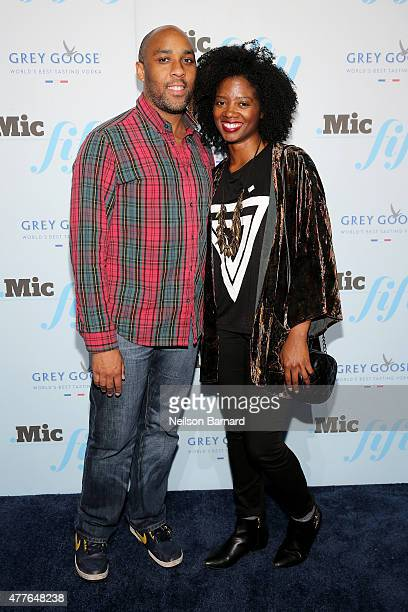 Yamilee Toussaint and guest attend GREY GOOSE Vodka Hosts The Inaugural Mic50 Awards at Marquee on June 18 2015 in New York City