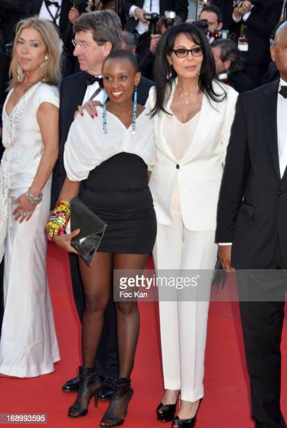 Yamina Benguigui and guests attend 'Le Passe' Premiere during the 66th Annual Cannes Film Festival at Grand Theatre Lumiere on May 17 2013 in Cannes...