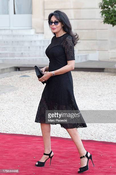 Yamina Benguigui arrives at the Elysee Palace for a state dinner on September 3 2013 in Paris France The German President is in France for a 3 day...