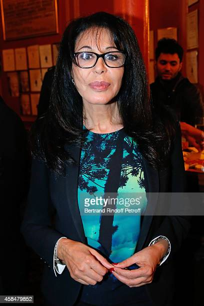 Yamina Benguigui attends the 150th Representation of the 'Je prefere qu'on reste amis' Theater Play at Theatre Antoine on November 5 2014 in Paris...