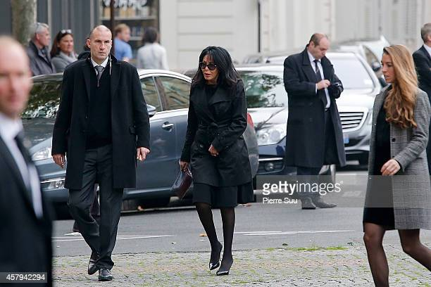 Yamina Benguigui attends the Memorial Service For Christophe De Margerie Total CEO at Eglise SaintSulpice on October 27 2014 in Paris France
