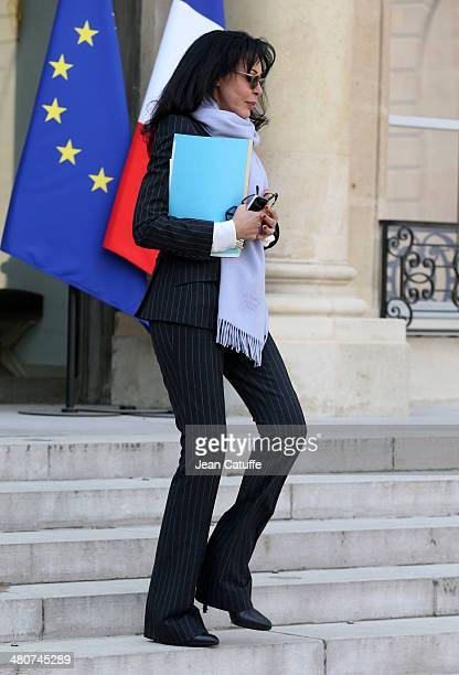 Yamina Benguigui french Deputy Minister of Francophone Affairs attends the 'Conseil des Ministres' the weekly Cabinet meeting around the French...